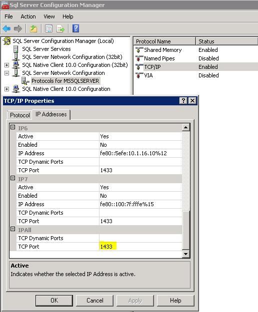 Banco de dados alterar a porta padr o sqlserver - Porta sql server ...